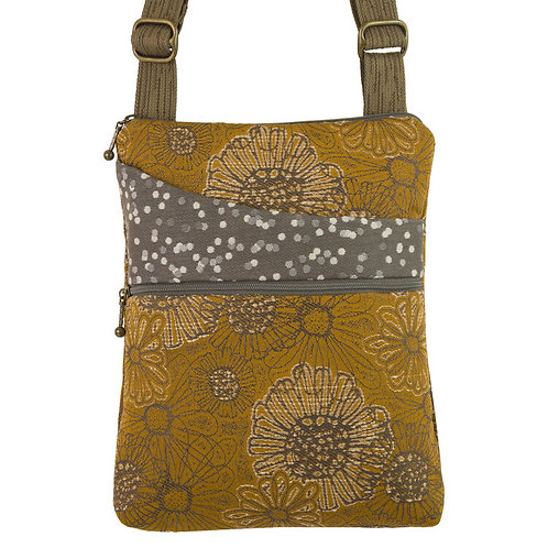 Maruca Pocket crossbody bag Blooming Saffron print