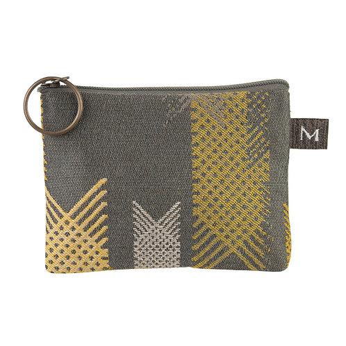 Maruca coin purse Lattice Grey print