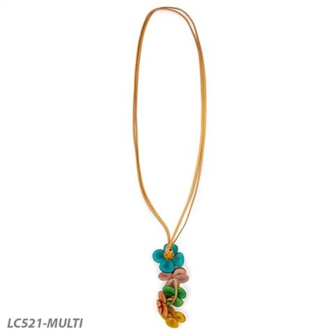 "Tagua Poppy Necklace 30"" in Multi-Color"