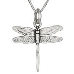 Dragonfly pendant necklace sterling silver
