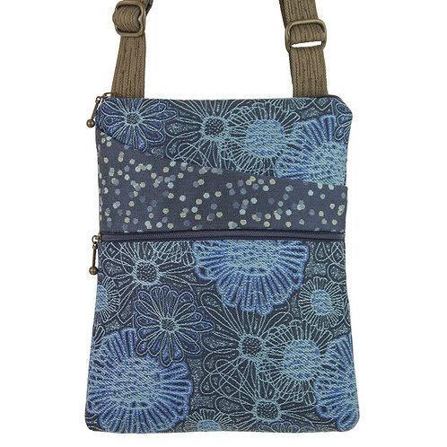 Maruca Pocket crossbody bag Blooming Blue print