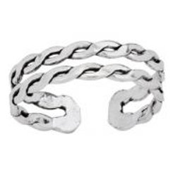 Double braid open band ring sterling silver size 6