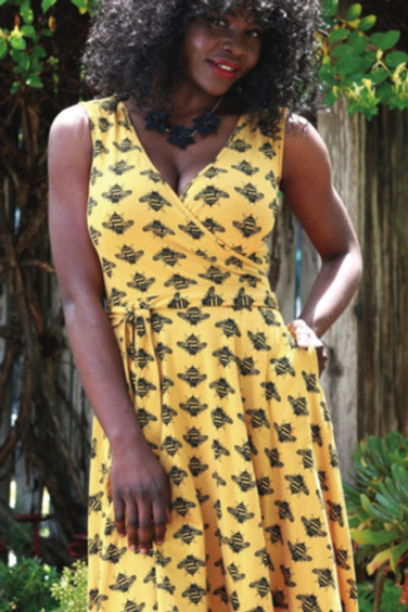 Effie's Heart Sigrid Dress in Bumble Bee Print