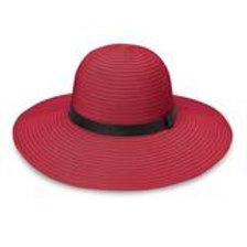 "Wallaroo Harper Hat in Cranberry 4.5"" Brim Packable UPF 50+"