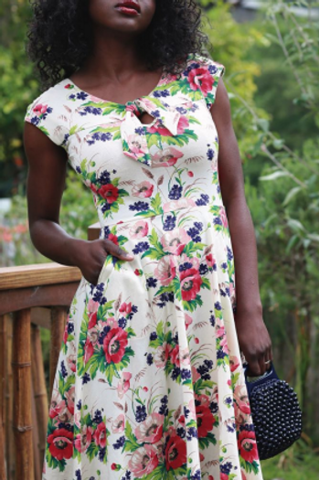 Effie's Heart Demoiselle Dress in Bouquet Print