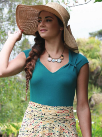 Effie's Heart Idyllic Pullover Top in Adriatic (Teal)