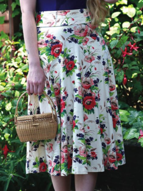 Effie's Heart Picnic Skirt in Bouquet Print