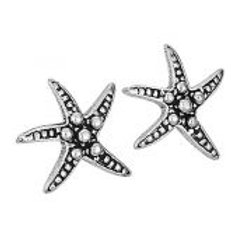 Starfish stud earring sterling silver