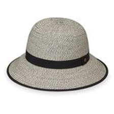 "Wallaroo Darby Cloche in Black / White 3"" Brim Packable UPF 50+"