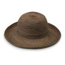 "Wallaroo Victoria Hat in Suede 3.5"" Shaped Brim Packable"