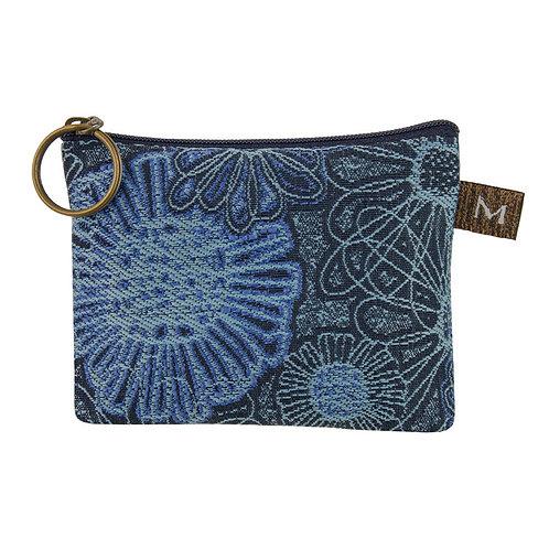 Maruca coin purse Blooming Blue print