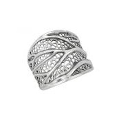 Holey wrap leaves ring sterling silver size 8