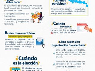 Abiertas inscripciones para elección de representantes de Consejos Locales de Gestión de Riesgos