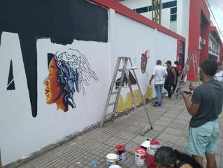 20 ciudades pintan en comunidad los 'Murales del Bicentenario'