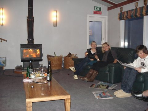 Chilling out after a day on the mountain