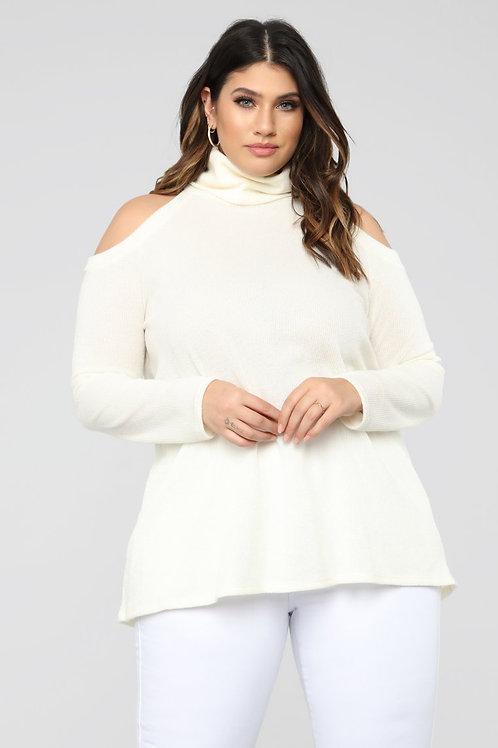 Turtleneck long sleeve blouse