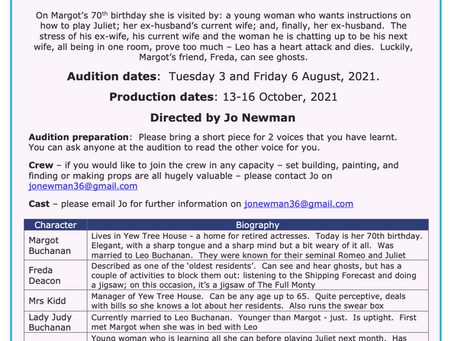 Audition for Drama Society's next show!