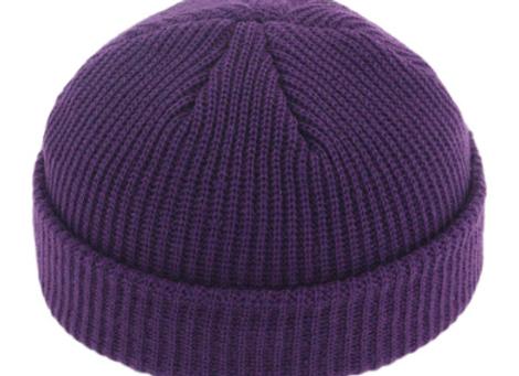 Purple Fisherman Beanie