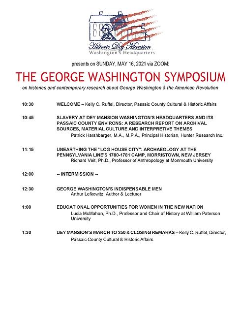 Program, George Washington Symposium, 20