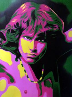 Jim Morrison-oil on canvas-30'' X 40''-