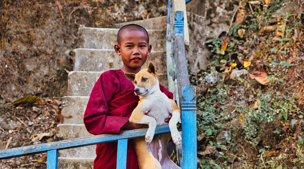 Monk And Friend
