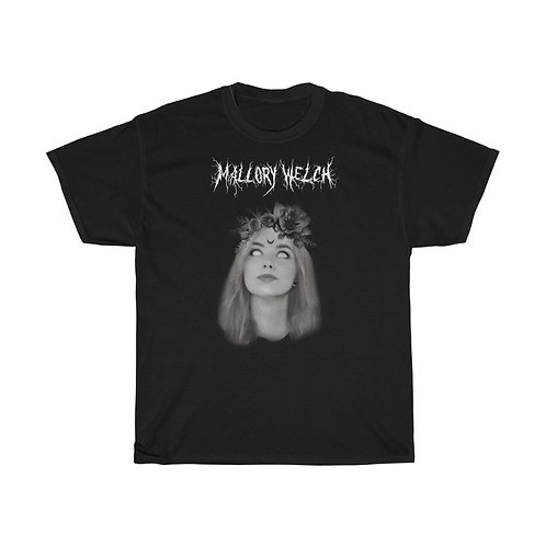 Mallory Welch Black Metal Unisex Heavy Cotton Tee