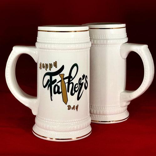 22 oz. Golden Rim Beer Mug