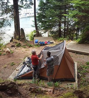 Camping at Ekins