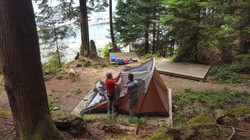 Setting up camp...