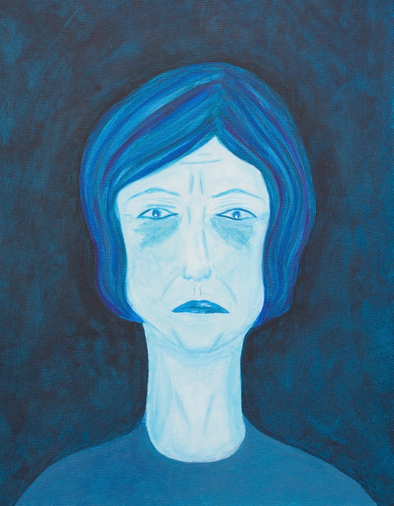 A portrait of me that my daughter, Tami Hammond-Collins, painted during one of my depressive episodes.