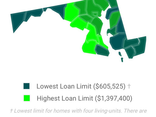 Maryland FHA Loan Limits 2019