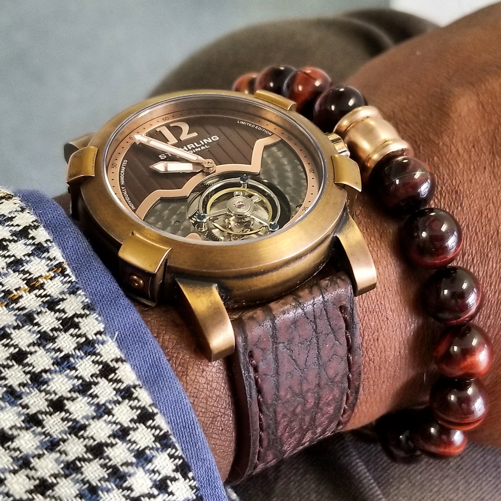 WOTD wrist-shot of the McDowell Time, Maxton Chronograph.  Paired with a custom, beaded bracelet, designed by Beads By Gonzo.