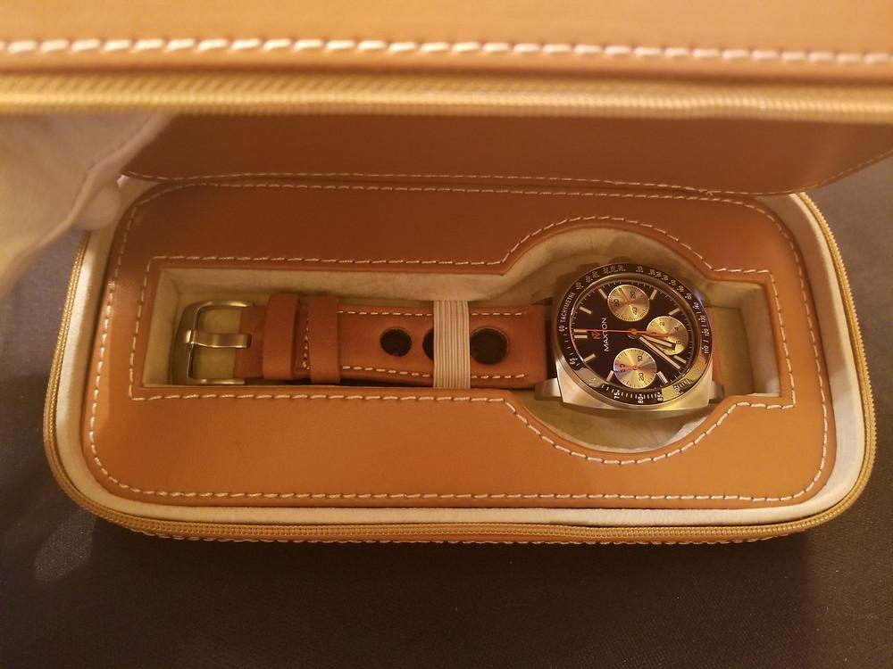 McDowell Time, Maxton Chronograph, Presentation Box & Travel Case
