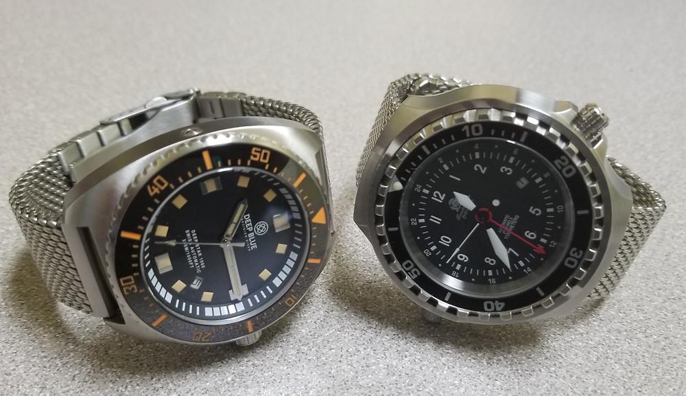 """Deep Blue"", ""Deep Star 1000"", Tauchmeister, ""Mesh Diver"" ""Watch Battle"""