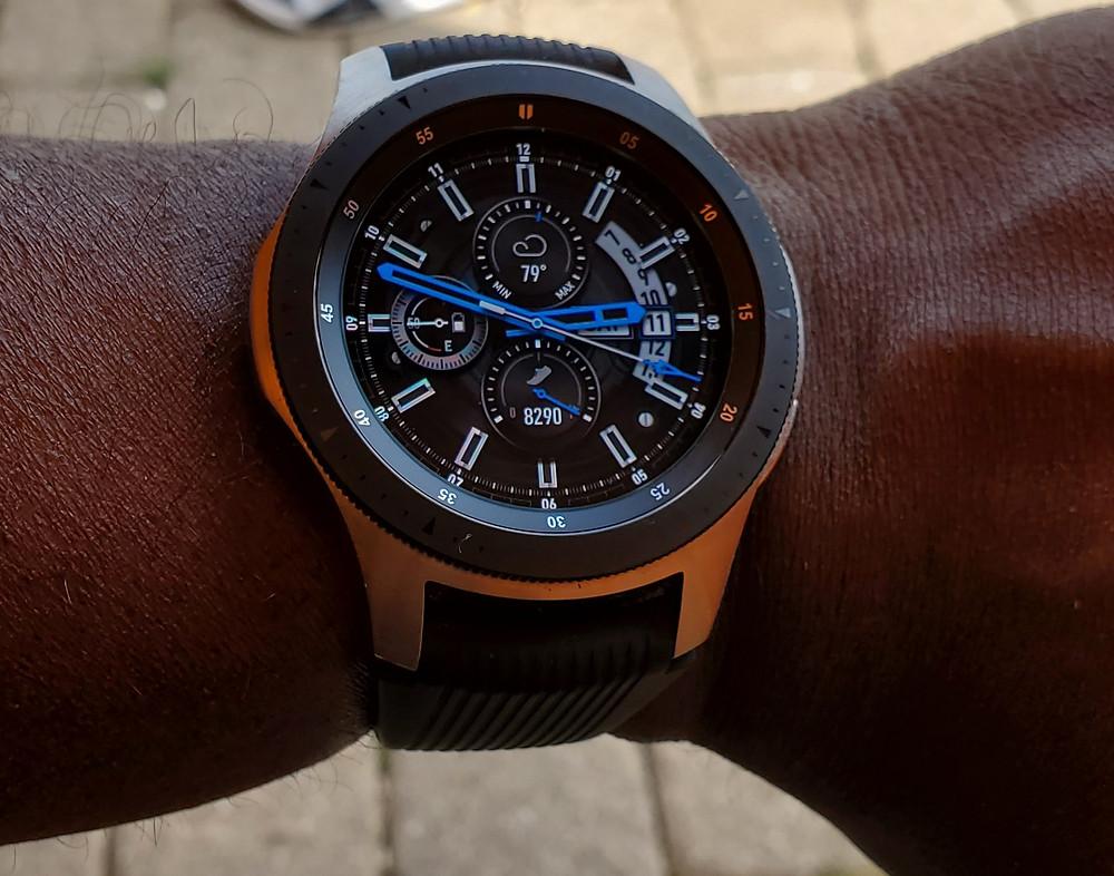 WOTD wrist-shot of the Samsung Gear Smartwatch.