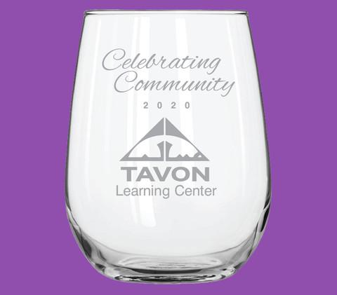 Celebratory Tall Stemless Wine Glass (16 oz)
