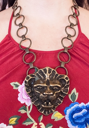 Vintage Large Lion Necklace