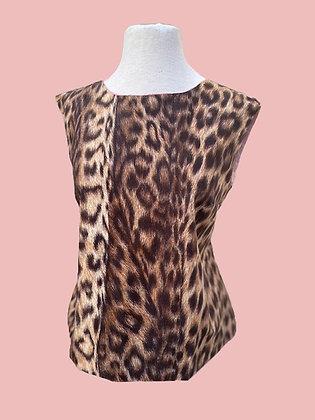 60s Italian Mod Leopard Print Top
