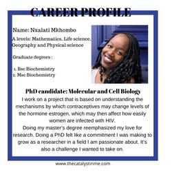 Nxalati Phd researcher