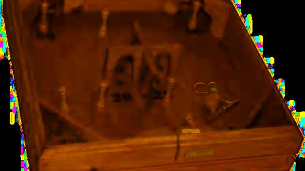 Ancien jeu de toupies et quilles