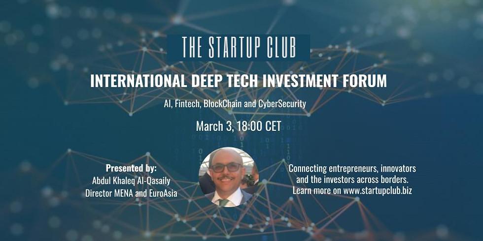 International DeepTech Investment Forum