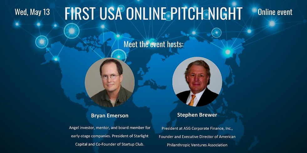 First USA Online Pitch Night - Networking in Virtual World