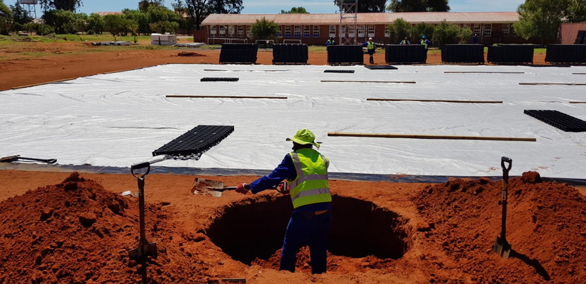 Installation of the GreenSource Sports Field