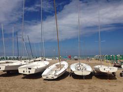Le barche della scuola vela