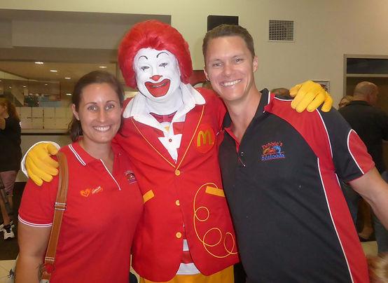 Ronald McDonald celebrates with Flagon and Dragon