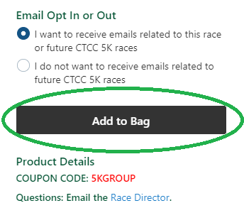 Add First Runner to Bag