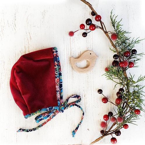 Red Velvet Bonnet