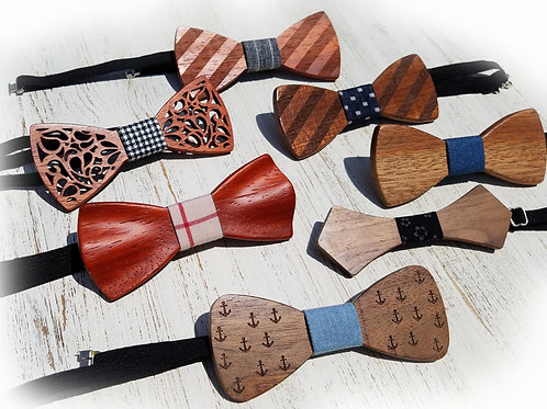 Wooden Bow Tie Collection