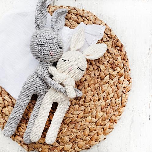 Cotton Crochet Sleepy Bunny Head