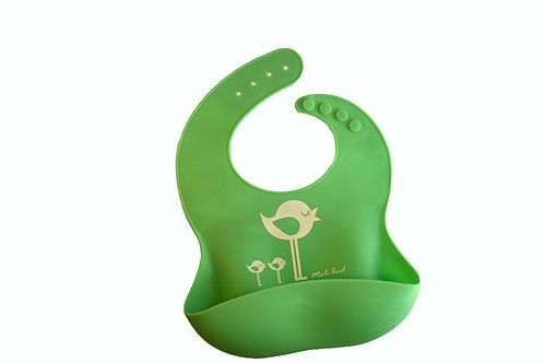 Silicone Bib with pocket 1 green